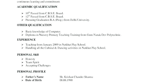 Resume Format Experienced Resume Format For Experienced Latest