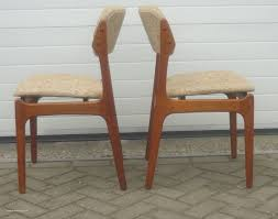 danish dining chairs uk and o d mobler set of dining chairs in teak and wool erik buch 1960s