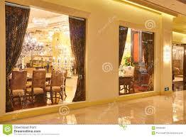 Show Window Lighting Luxury Lighting Furniture Shop Window Stock Photo Image Of