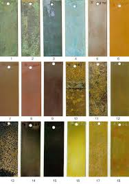 Patina Color Chart Metals Finish Guide Ab