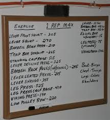 1 Rep Max Chart Kg One Rep Max Calculator