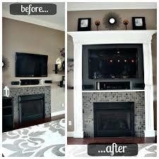 fireplace remodel diy brick makeovers updates