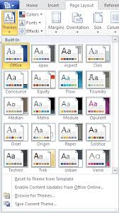 Microsoft Access Themes Download Microsoft Word 2010 Themes