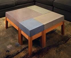 view in gallery concrete modular coffee table from custom made wooden design ideas