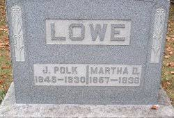 James Polk Lowe (1845 - 1930) - Genealogy