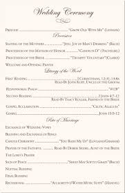 Catholic Wedding Mass Program Catholic Wedding Vows Program Samples Cultural Filipino Wedding