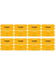 Template For A Raffle Ticket Free Raffle Ticket Template Pdf Templates Jotform