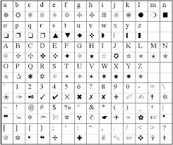 Symbol Font Samples