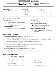 Front End Web Developer Resume Sample Resume Template Front End Web Developer Resume Example Free 9