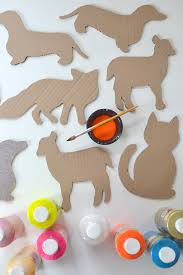 diy cardboard animals recycled art free templates smallforbig