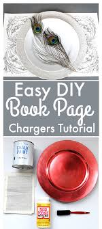 diy book page chargers tutorial