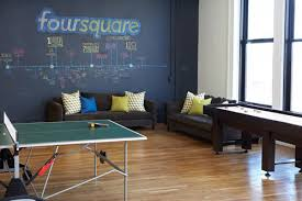 fun office room. chic and modern foursquare office interior in soho game room with tennis fun