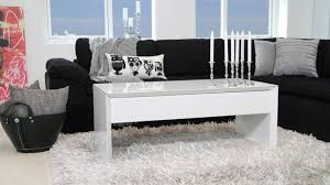modern white gloss coffee table locking lid and storage for high gloss coffee table