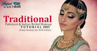 traditional stani and indian bridal makeup tutorial ivory smokey eye with glitter