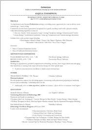 Artist Resume For Non Profit Perfect Resume Format