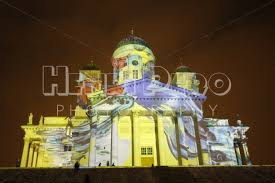 artistic lighting. Artistic Lighting On Helsinki Cathedral At The Lux 2016 Festival