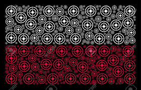 Bullseye Pattern Gorgeous Poland State Flag Pattern Made With Target Bullseye Elements