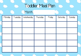 Toddler Meal Plan Chart Toddler Meal Plan Chart Download In 2019 Meal Plan For