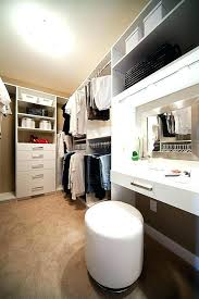 walk closet vanity with in design transitional wood shelves ideas built f walk in closet with vanity