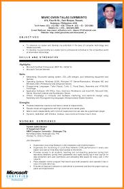 Sample Resume Format 100 Sample Resume For Ojt Azzurra Castle Grenada 78