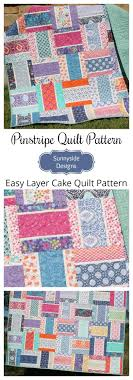 Pinstripe Quilt Pattern - Layer Cake Friendly | Layer cake quilt ... & Pinstripe Quilt Pattern - Layer Cake Friendly | Layer cake quilt patterns, Layer  cake patterns and Layer cake quilts Adamdwight.com
