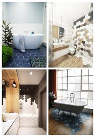 29 trendy hexagon tile ideas for bathrooms