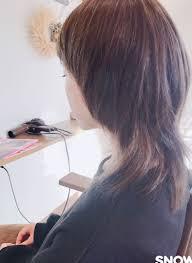 Asaishiさんのヘアスタイル マッシュウルフ春カットセ Tredina
