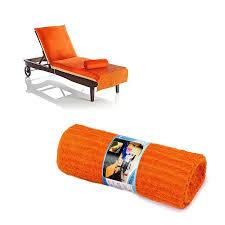 beach chaise lounge chair cover towel mandarin orange