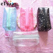 eTya <b>Travel Transparent Cosmetic Bag</b> Women Paillette PVC Small ...