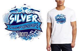 Swim Championship T Shirt Designs 2017 Silver Championships Vector Logo Design For Swimming T