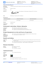 Daily Activities Template Daily Activity Report Template Free And Better Than Excel