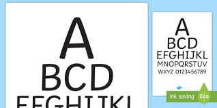 Doctors Office Eye Chart Poster Doctor Role Play Eye