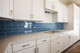 kitchen splash back blue tiles