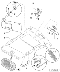 audi workshop manuals > a3 mk1 > body > general body assembly a70 0115 ‒ detach left wiring harness