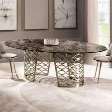 High end dining room furniture Mid Century Modern High End Italian Bronze Oval Marble Dining Table Havertys Luxury Dining Tables Exclusive High End Designer Dining Tables