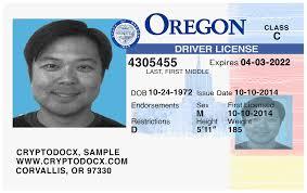 Markings License Driver Uv Oregon Holograms