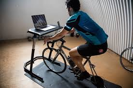 turn your stationary bike into a workstation with wahoo s fitness desk