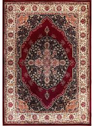 home dynamix royalty tansy area rug border red ivory