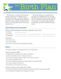 Home Birth Plan Worksheet A Downloadable Visual Birth Plan The Best Season Of My Life