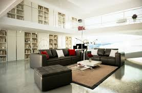 White And Black Living Room Furniture Black White Brown Living Room With Mezzanine Elements Of My