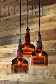 liquor bottle chandelier the gran 3 light recycled bottle chandelier liquor bottle chandelier kit