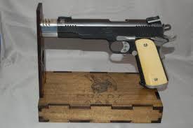 Handgun Display Stand Universal Handgun Display Stand with or without hidden drawer 50