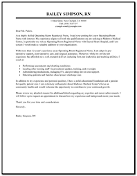 Operating Room Nursing Email Cover Letter Free Template - Cover ...
