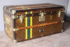 Steamer Trunk Furniture Vintage Small Monogrammed Steamer Trunk From Louis Vuitton For