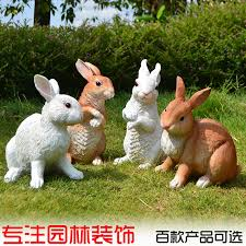 Rabbit Decorative Accessories Simulation animal rabbit resin ornaments home accessories 4