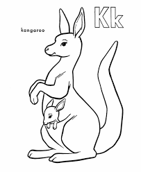 Small Picture Animal Coloring Kangaroo Coloring Pages Kids Kangaroo Coloring