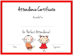 free perfect attendance certificate employee perfect attendance certificate template free templates of