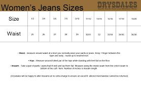 Genuine Wrangler Jeans Size Conversion Chart Wrangler