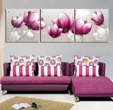 free shipping canvas painting wall pictures 3 panel canvas art oil painting purple style art home decor wall art 5pcs set on 3 panel wall art set with free shipping canvas painting wall pictures 3 panel canvas art oil