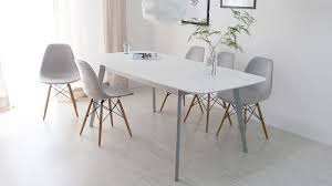 contemporary white and grey dining set